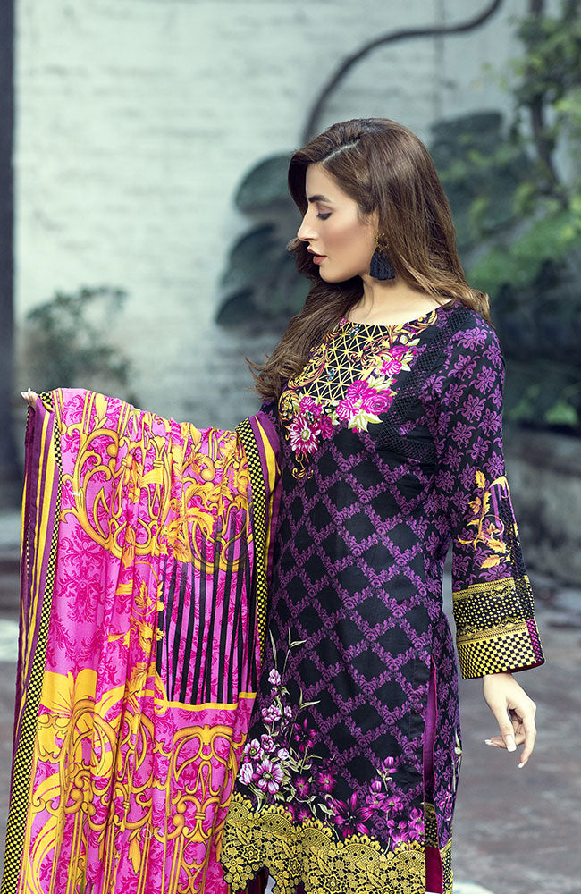AN19L 1B Anum Lawn Collection 2019