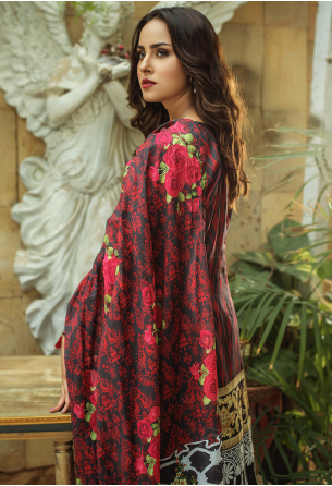 Sunshine Bloom Cotton Silk Collection by ALZOHAIB - 3 Piece Printed Unstitched Suit SB 26