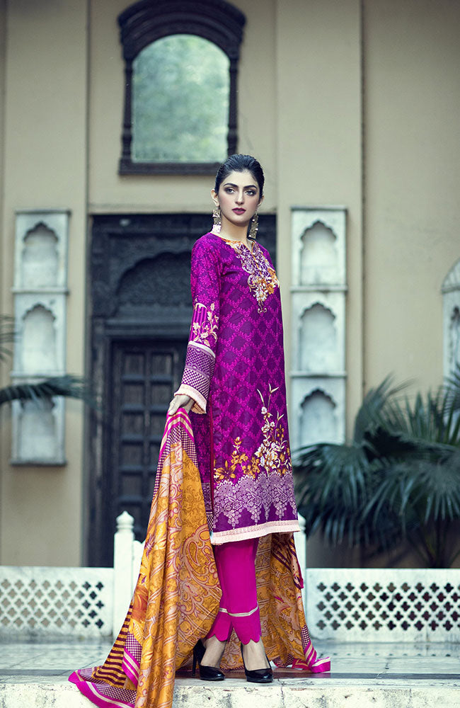 AN19L 1C Anum Lawn Collection 2019