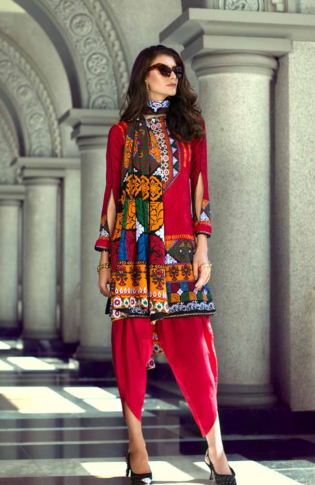 Monsoon Lawn Collection 2019 by ALZOHAIB - 3 Piece Printed Lawn Suit - 02A