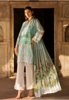 Sunshine Bloom Cotton Silk Collection by ALZOHAIB - 3 Piece Embroidered Unstitched Suit SB 02B