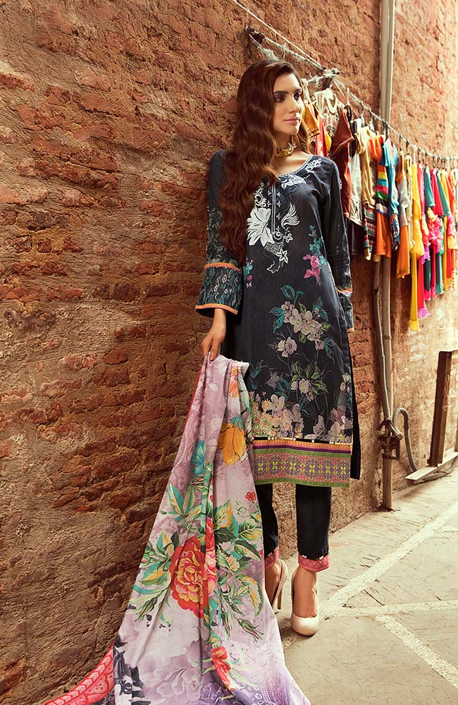 Al Zohaib RNE20-03A Rung Embroidered Collection 2020