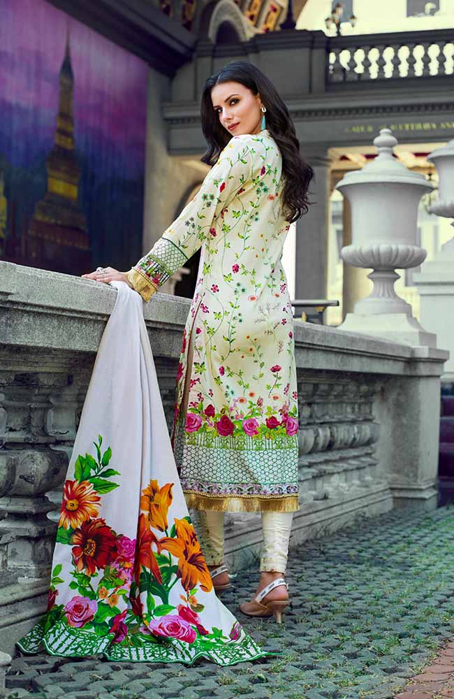Monsoon Lawn Collection 2019 by ALZOHAIB - 3 Piece Printed Lawn Suit - 03A