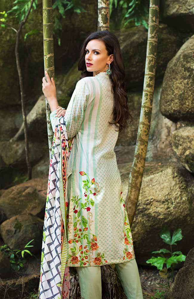 MF19L2 3A - Monsoon Festivana Embroidered Lawn Vol.2