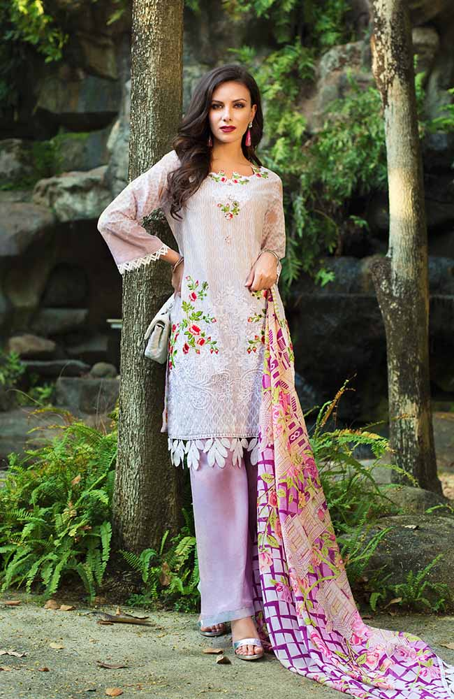 MF19L2 3B - Monsoon Festivana Embroidered Lawn Vol.2