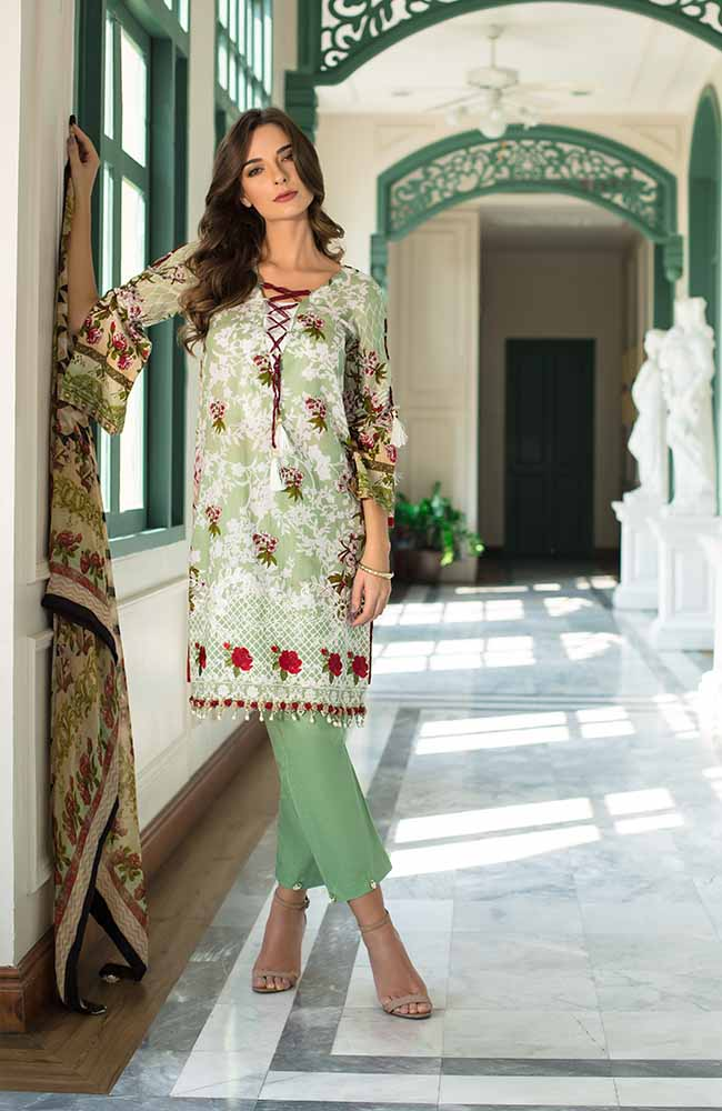 Monsoon Festivana Embroidered Lawn by ALZOHAIB