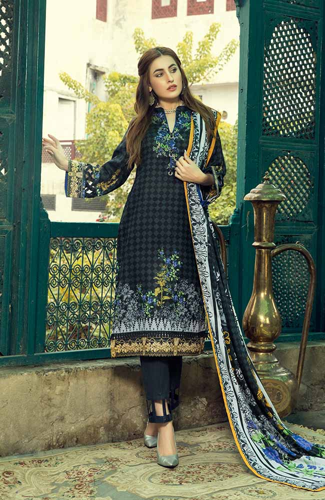 AN19L 3C Anum Lawn Collection 2019
