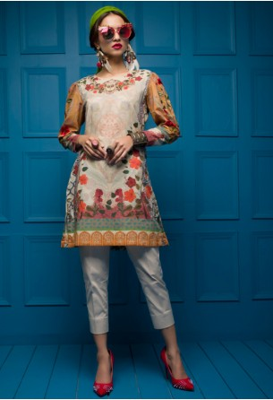 Tabassum Mughal Kurti Collection by ALZOHAIB - TM Basics Turkish Garden