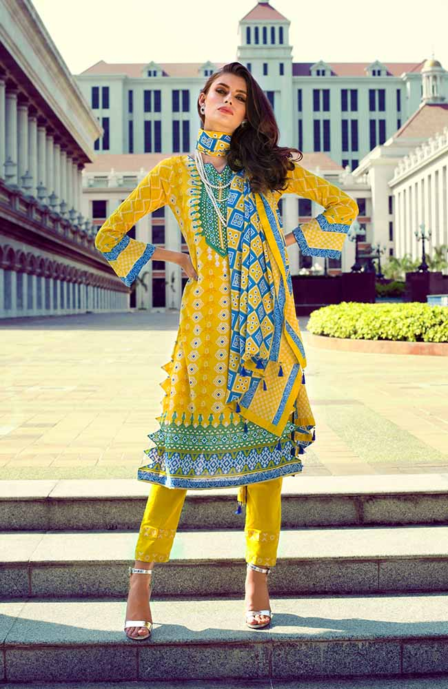 Monsoon Lawn Collection 2019 by ALZOHAIB - 3 Piece Printed Lawn Suit - 04A