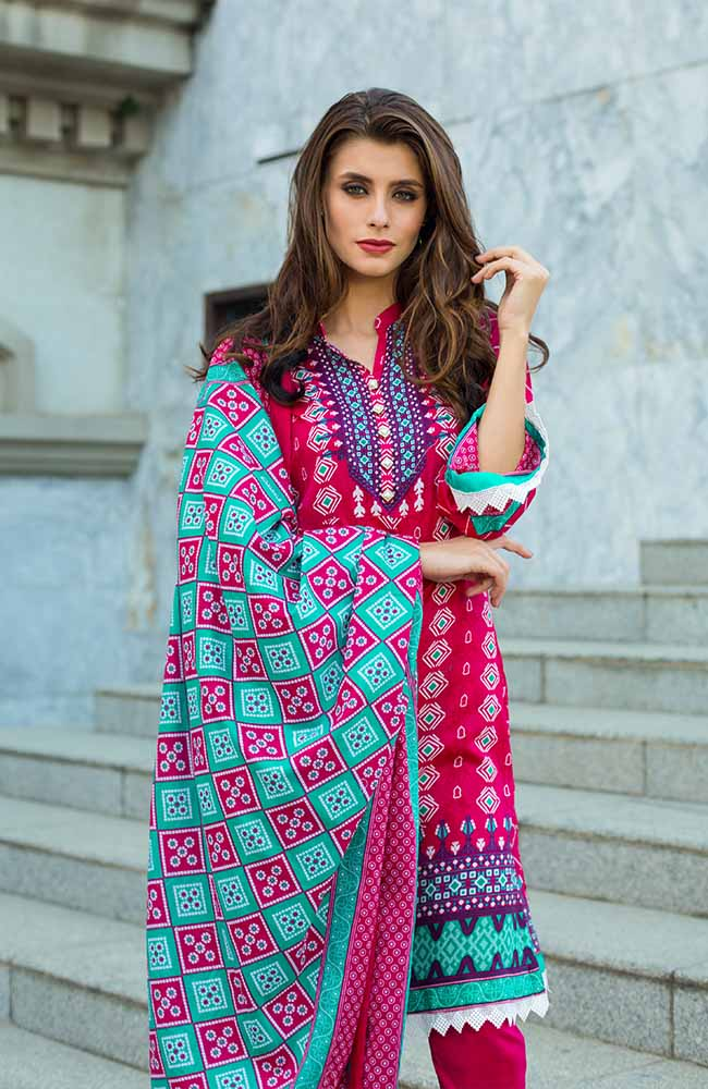 Monsoon Lawn Collection 2019 by ALZOHAIB - 3 Piece Printed Lawn Suit - 04B