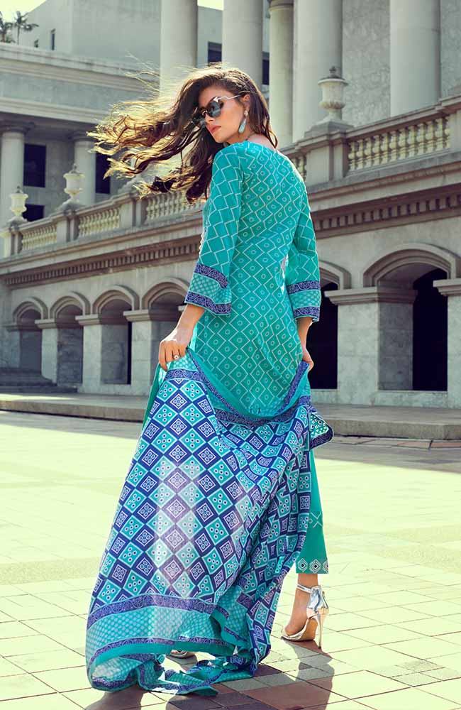 Monsoon Lawn Collection 2019 by ALZOHAIB - 3 Piece Printed Lawn Suit - 04C