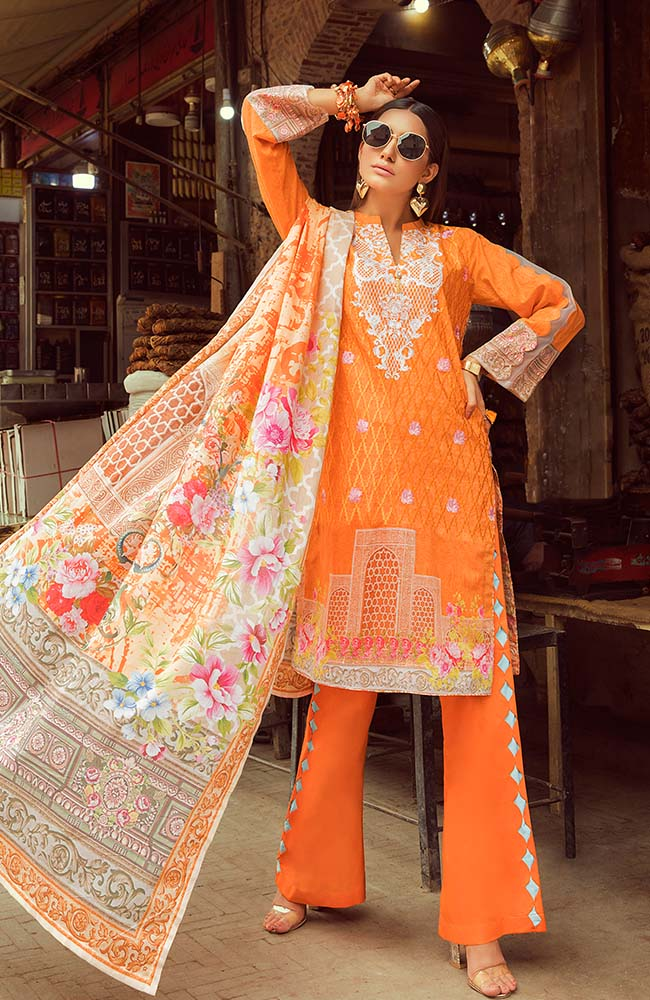 Al Zohaib RNE20-05B Rung Embroidered Collection 2020