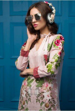 Tabassum Mughal Kurti Collection by ALZOHAIB - TM Basics Tickle Me Pink