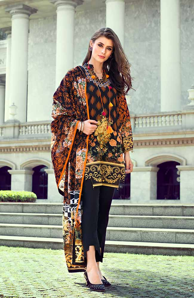 Monsoon Lawn Collection 2019 by ALZOHAIB - 3 Piece Printed Lawn Suit - 05A