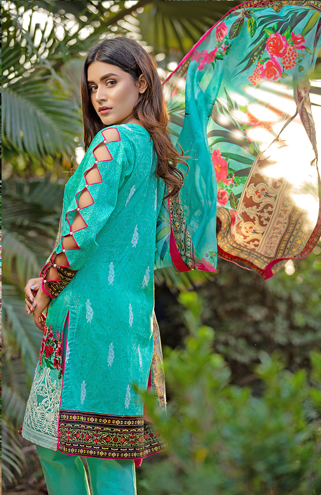 MF19L2 5A - Monsoon Festivana Embroidered Lawn Vol.2