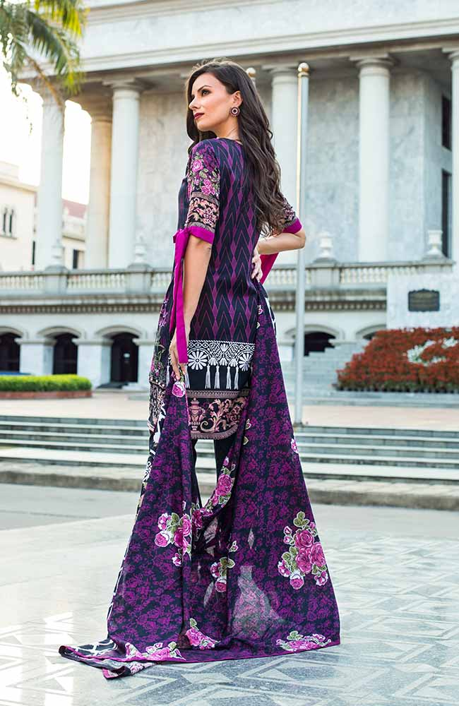 Monsoon Lawn Collection 2019 by ALZOHAIB - 3 Piece Printed Lawn Suit - 05B