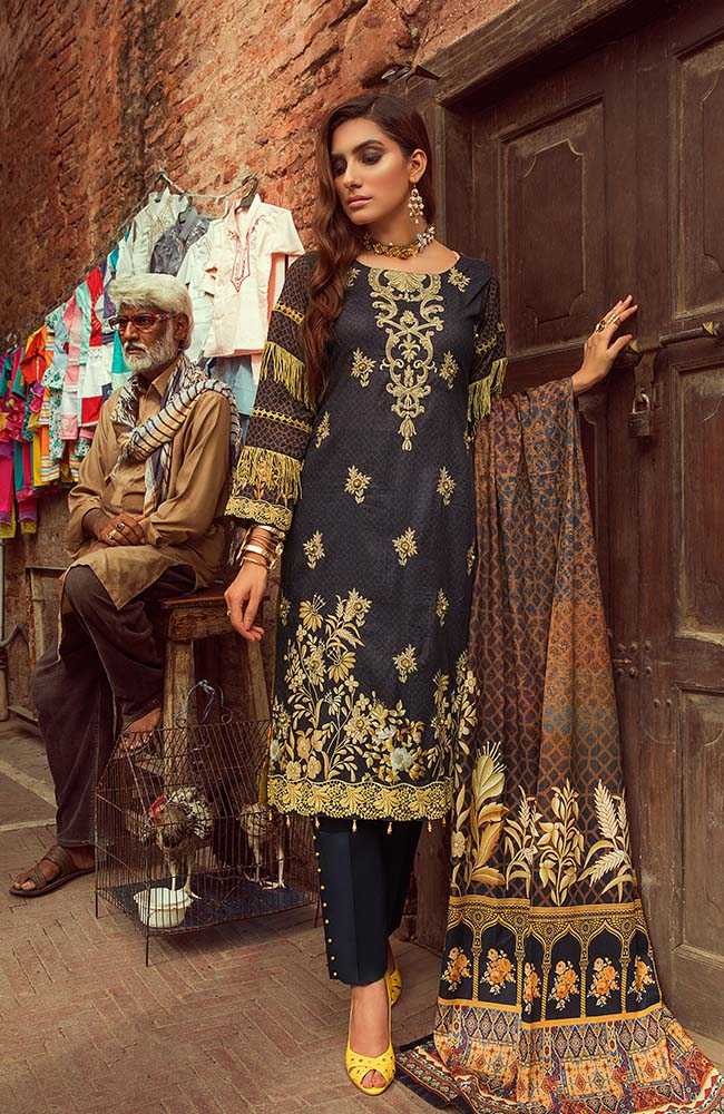 Al Zohaib RNE20-06 Rung Embroidered Collection 2020