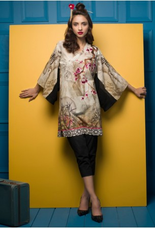 Tabassum Mughal Kurti Collection by ALZOHAIB - TM Basics Sakura