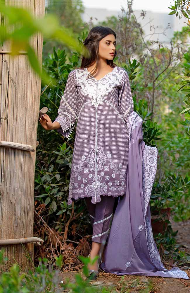 MF19L2 6A - Monsoon Festivana Embroidered Lawn Vol.2