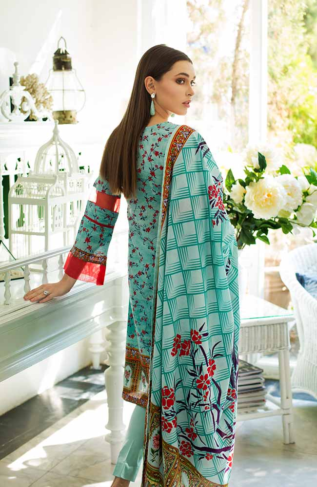 Monsoon Lawn Collection 2019 by ALZOHAIB - 3 Piece Printed Lawn Suit - 06B