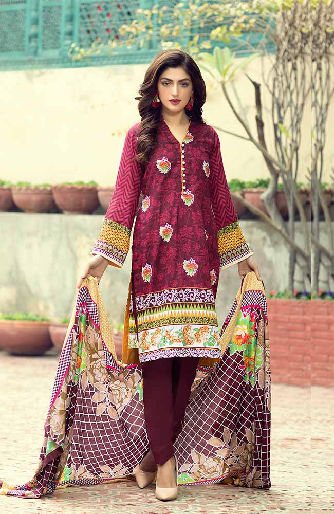 AN19L 6C Anum Lawn Collection 2019