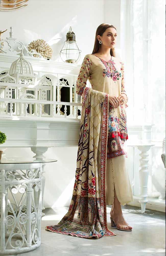 Monsoon Lawn Collection 2019 by ALZOHAIB - 3 Piece Printed Lawn Suit - 06C