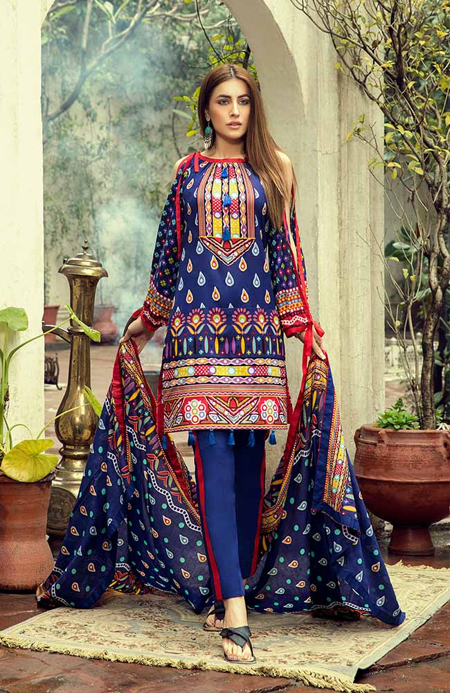 AN19L 7A Anum Lawn Collection 2019