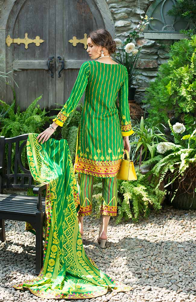 Monsoon Lawn Collection 2019 by ALZOHAIB - 3 Piece Printed Lawn Suit - 07B