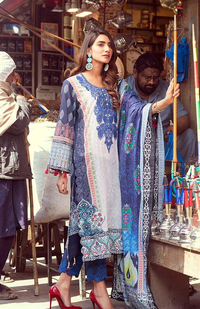 Al Zohaib RNE20-08 Rung Embroidered Collection 2020