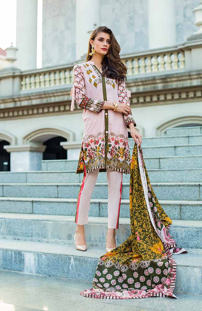 Monsoon Lawn Collection 2019 by ALZOHAIB - 3 Piece Printed Lawn Suit - 08B