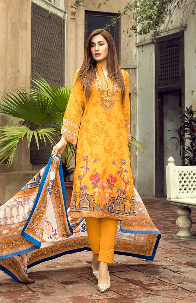 AN19L 8C Anum Lawn Collection 2019