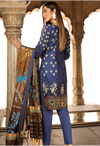 Sunshine Bloom Cotton Silk Collection by ALZOHAIB - 3 Piece Embroidered Unstitched Suit SB 09