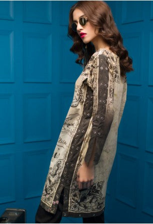 Tabassum Mughal Kurti Collection by ALZOHAIB - TM Basics Desert Rose
