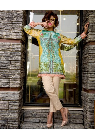 Tabassum Mughal Kurti Collection by ALZOHAIB - TM Basics Vol 2 Tropical Spike