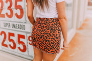 Burnt Leopard Skirt