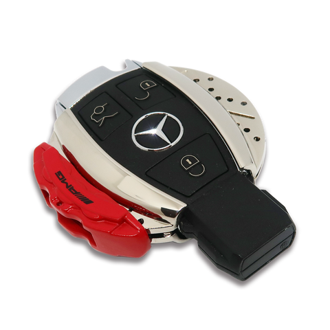 🏎️ AMG Red Brake Caliper Design Mercedes Key Case *Keyless only*