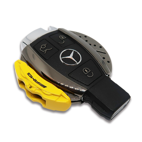 🏎️ AMG Yellow Brake Caliper Design Mercedes Key Case *Keyless only*