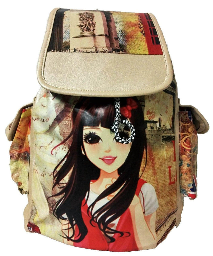 9575b0130 Stylish and Elegant (Golden ) Backpack for Women and Girls by Own Classy