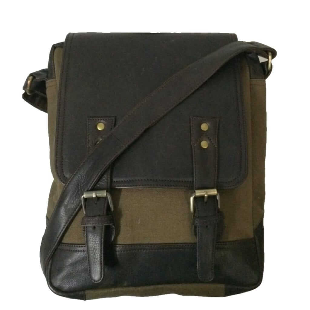 100% Genuine Leather and Canvas Sling Bag for Men and Women by Own Classy c75d87cc706b4