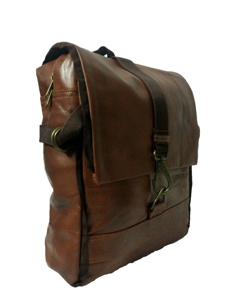 cd42bf2af5 100% Genuine Leather Brown backpack for Men   Women by Own Classy. Brown  Leather School   College bag ...