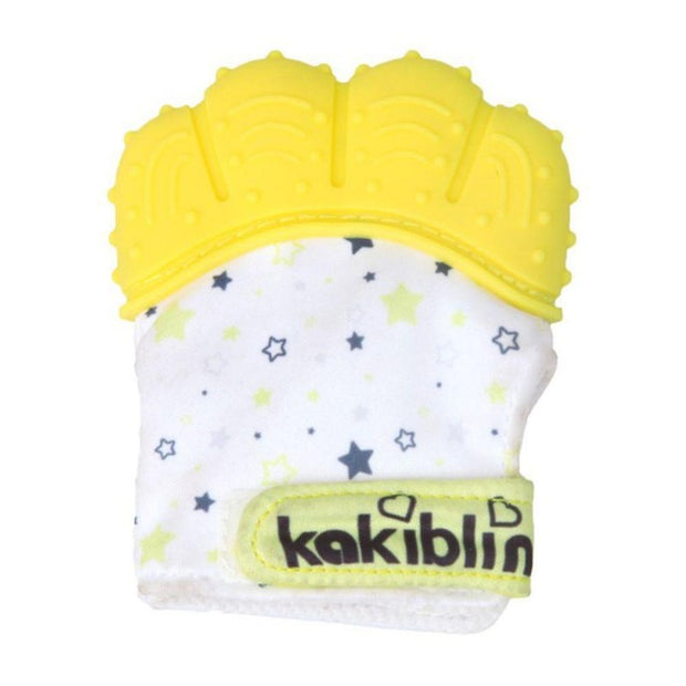 Yellow Baby Teething mittens