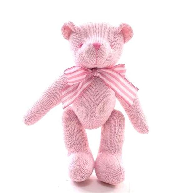 Wool Knitted Stuffed Teddy Bear With Oversized Snuggling Arms, Chemical Free
