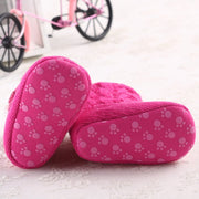 Cozy Wool and Cotton Knitted Baby Booties with Heart Shaped Buttons