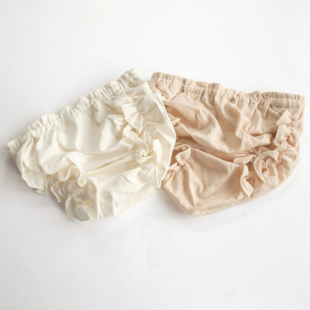 Organic Cotton Baby Ruffled Panties, 2-Pack