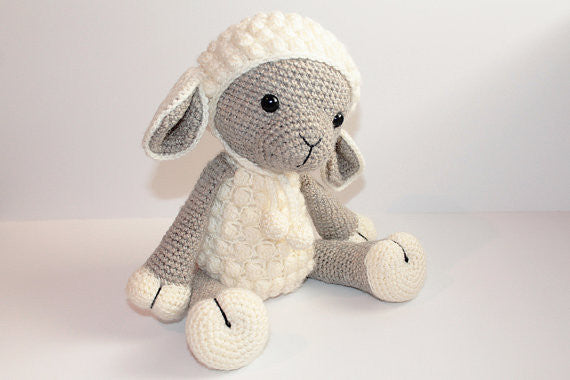 Wool Knitted Stuffed Sheep, Chemical Free