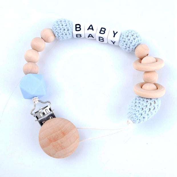 Handmade Personalized Customized Hexagon Baby Pacifier Clip