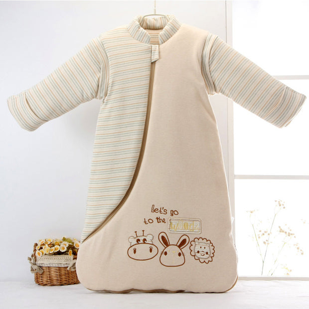 Organic Cotton Baby Sleep Bag with Removable Sleeves