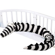 Striped Baby Crocodile Crib Bumper