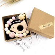Handmade Baby Pacifier Clip in a Gift Box, 3-Piece Set