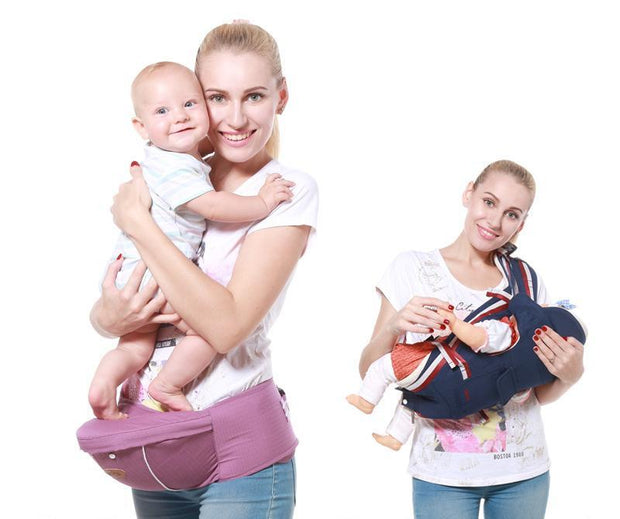 Luxury Cotton Blend 5-in-1 Ergonomic Infant to Toddler Baby Carrier with Removable Hip Seat